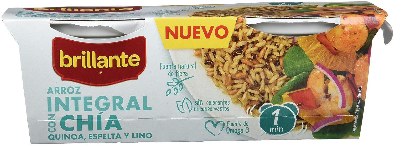 Brillante Arroz Integral Con Chía, Quinoa, Espelta Y Lino 125G X 2 - [Pack De 8] - Total 2 Kg