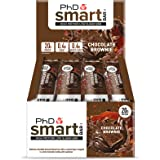 PhD Smart Bar High Protein Low Carb Bar, Dark Chocolate Brownie, 64 g, Pack of 12