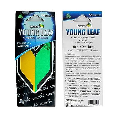 2 Pack Treefrog Wakaba Young Leaf Japanese Air Freshener Black Squash JDM Car Auto: Automotive [5Bkhe1000433]