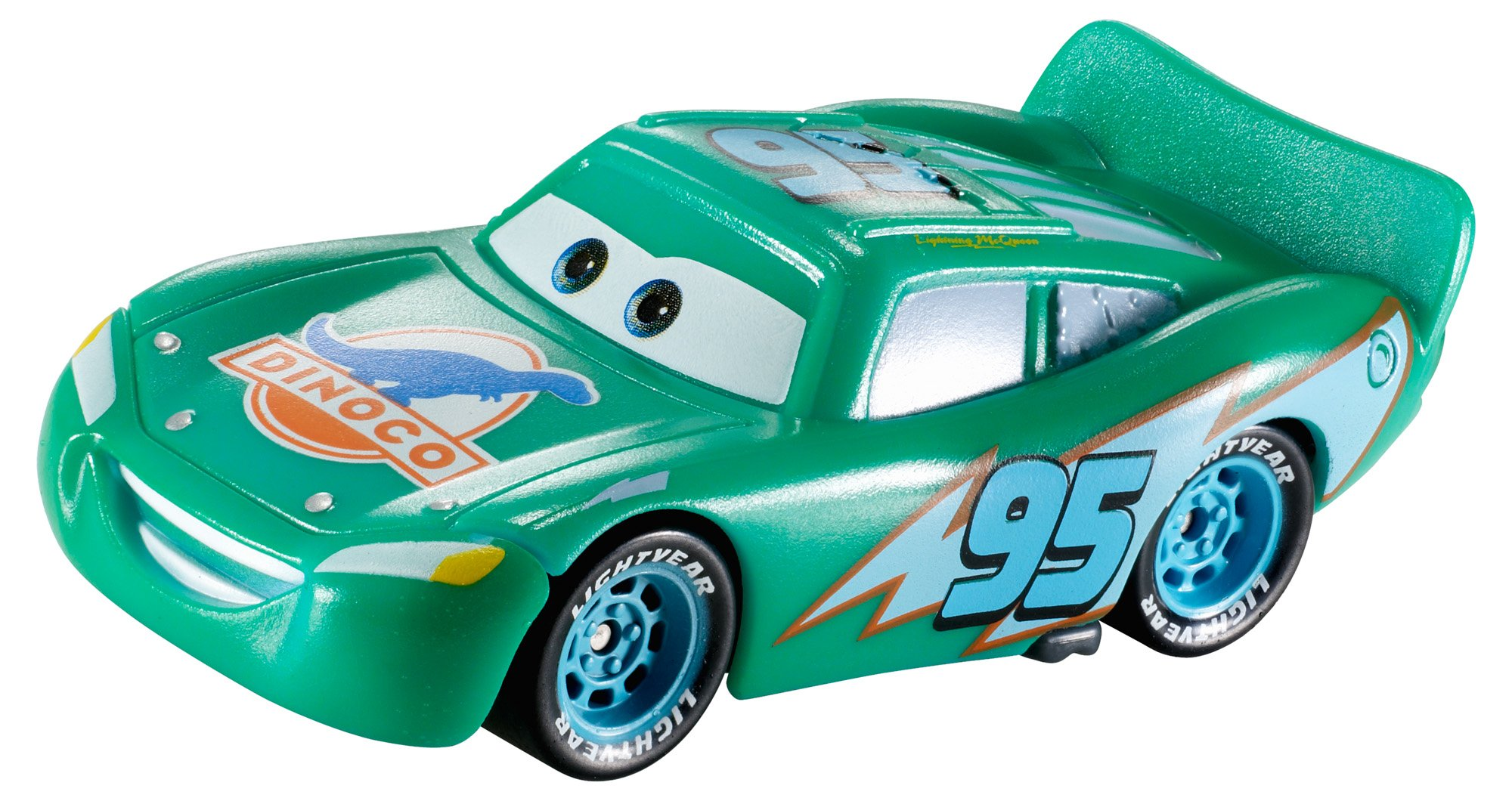 Disney/Pixar Cars, Color Changers, Dinoco Lightning McQueen (Green to Blue) Vehicle