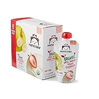 Amazon Brand - Mama Bear Organic Baby Food, Stage 2, Apple Banana Yogurt Strawberry...