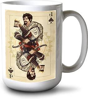 product image for Lantern Press Jack of Spades - Playing Card (15oz White Ceramic Mug)