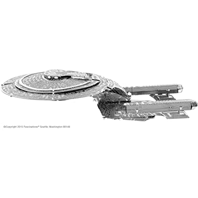 fascinations Metal Earth Star Trek USS Enterprise NCC-1701D 3D Metal Model Kit: Fascinations: Toys & Games