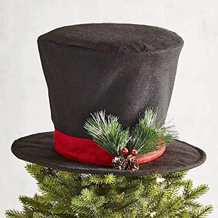 Christmas Top Hat.Christmas Tree Decor Top Hat Tree Topper