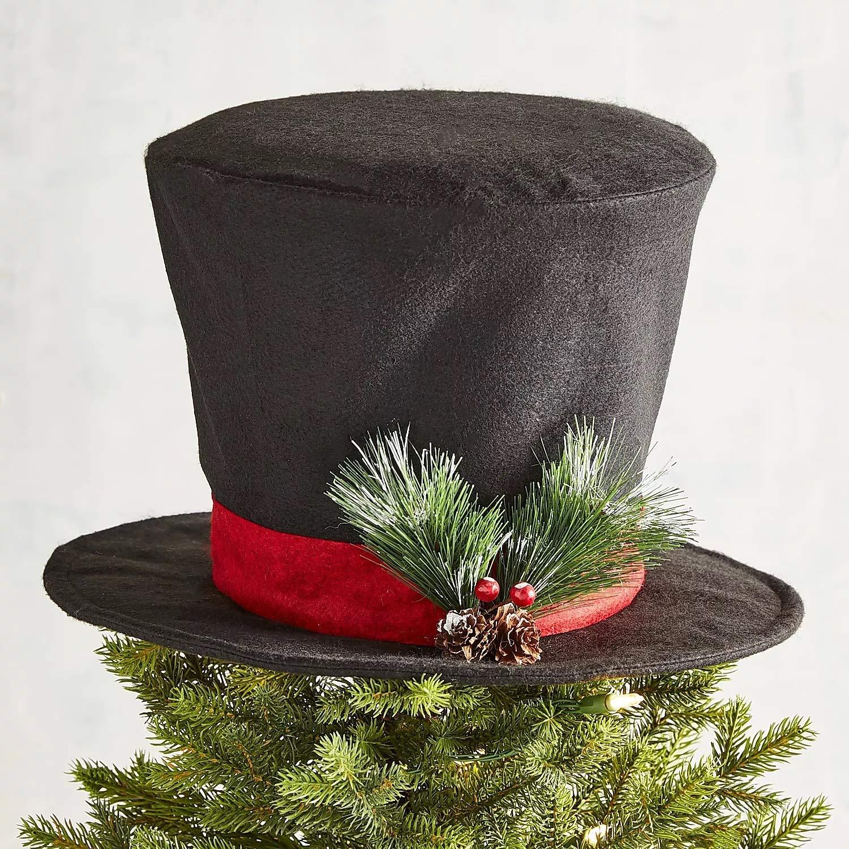 Christmas Tree Decor - Top Hat Tree Topper