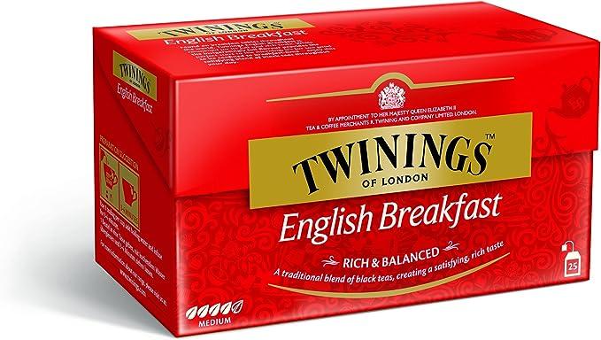 Infusión Twinings Té English Breakfast 25Sobres: Amazon.es: Alimentación y bebidas