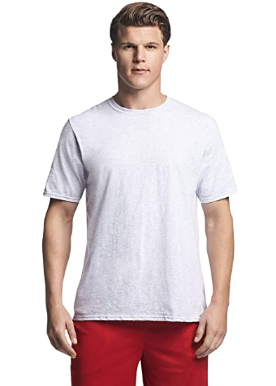 f34f54e23310 Russell Athletic Men's Performance Cotton Short Sleeve T-Shirt, ash, ...