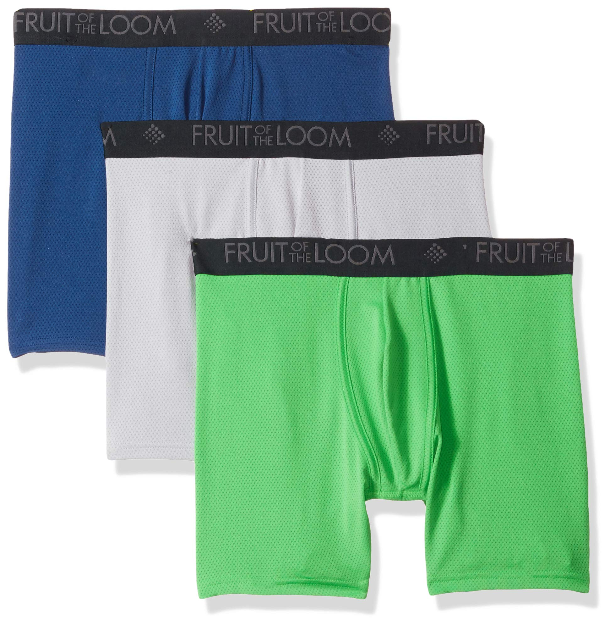 Fruit of the Loom Men's Breathable Underwear, Micro Mesh - Assorted Color - Boxer Brief, Large by Fruit of the Loom