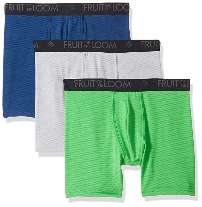 a5394c7f Fruit of the Loom Mens 3-Pack Breathable Lightweight Micromesh Boxer Brief  Boxer Briefs: Amazon.ca: Clothing & Accessories