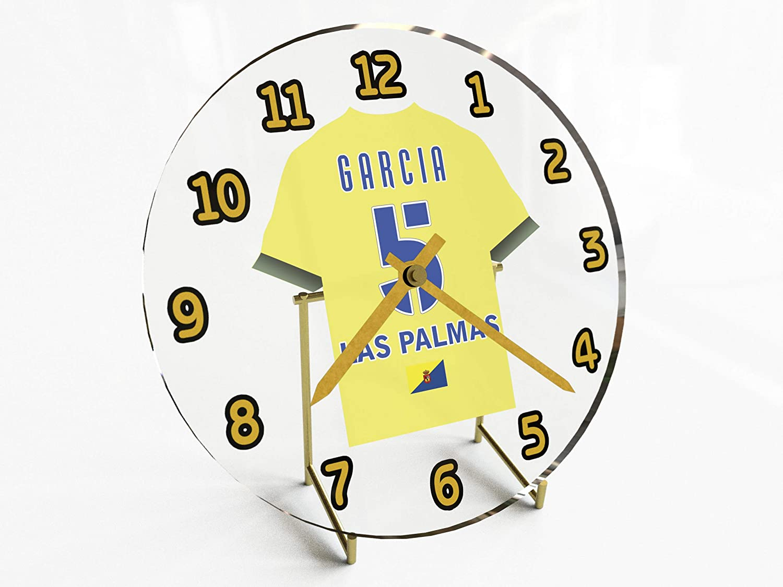 Reloj de sobremesa, diseño de camiseta de fútbol de La Liga española, hombre, UD Las Palmas: Amazon.es: Deportes y aire libre