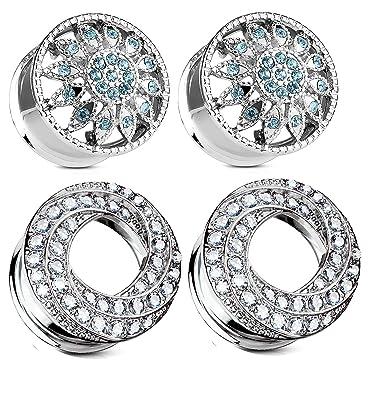 Amazon.com: Zaya Body Jewelry - 2 pares de dilatadores de ...