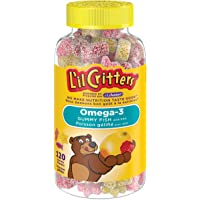 L'il Critters Omega-3 Gummy Fish Vitamins, Naturally Sourced Colours & Flavours, 120 Count