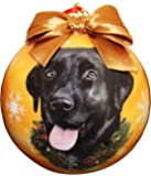 Black Lab Christmas Ornament Shatter Proof Ball Easy To Personalize A Perfect Gift For Black Lab Lovers