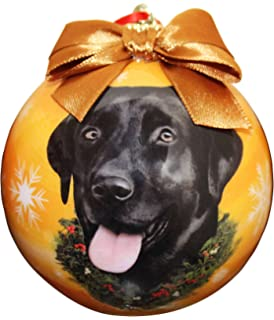 Black Lab Christmas Ornament Shatter Proof Ball Easy To Personalize A Perfect Gift For Black Lab