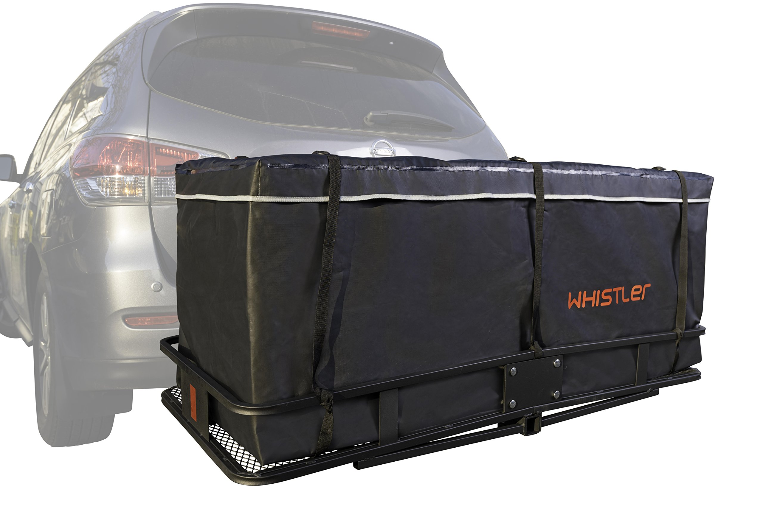 Hitch bag - 100% Waterproof Large Hitch Tray Cargo carrier bag 59'' x 24'' x 24'' (20 Cu Ft) + Storage Bag by Whistler