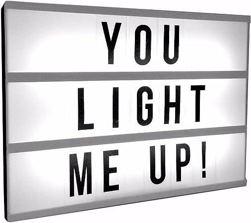 Gainsborough Gifts Caja de luz para Mensajes con Letras deslizantes e Intercambiables (Modelo Único) (Blanco/Negro): Amazon.es: Hogar