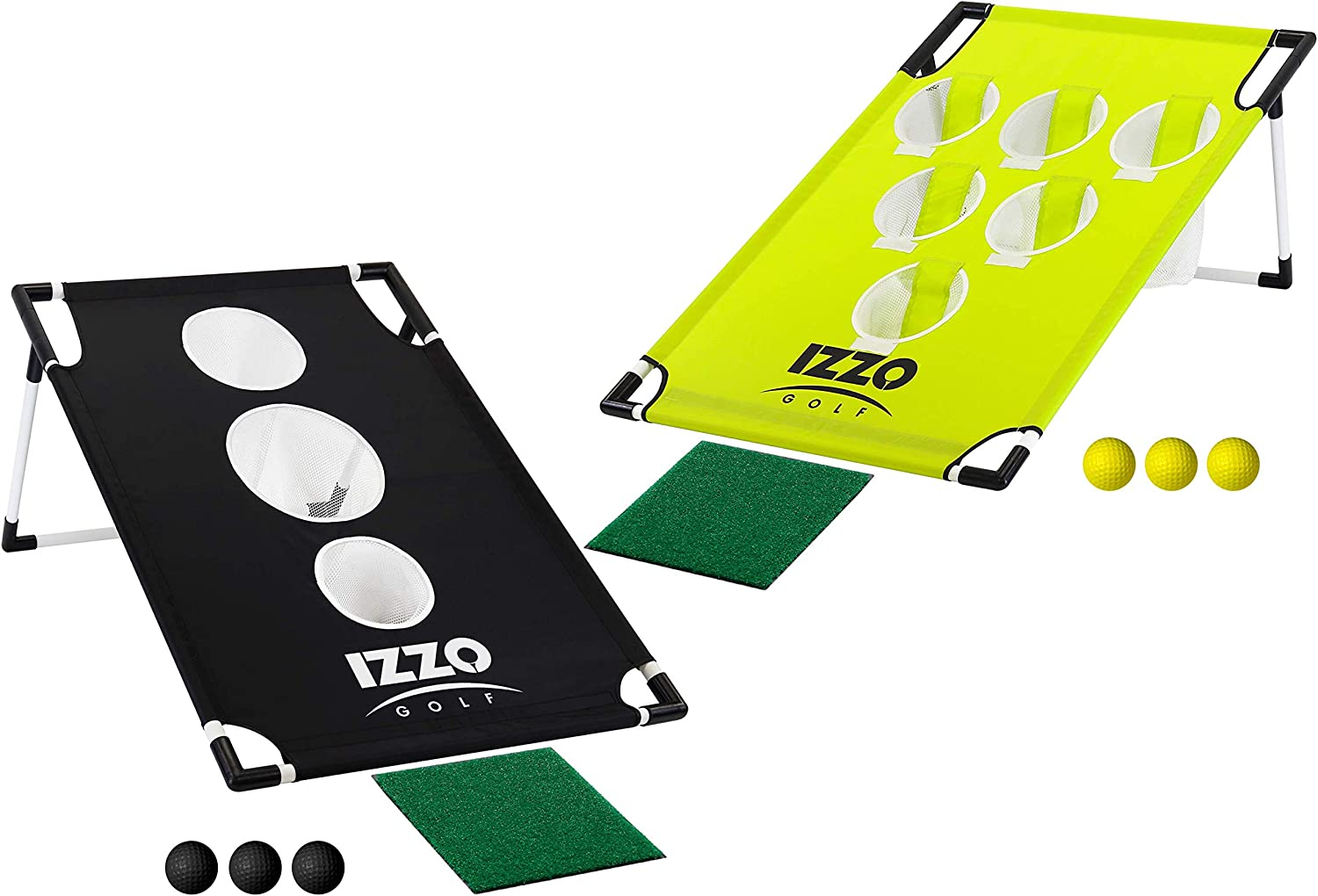 Izzo Pong Hole Golf Chipping Practice & Gaming Set, Black