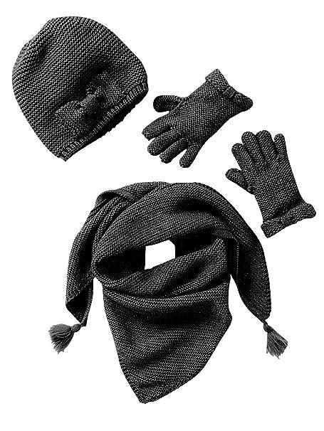 VERTBAUDET Conjunto bufanda + gorro + manoplas o guantes niña  Amazon.es   Ropa y accesorios 114968f9fe5