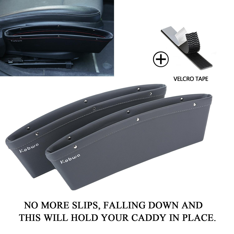 KOBWA boî te de rangement de siege, siege auto poche organisateur de voiture é cart fuite voiture accessoires entre siè ge et console (lot de 2, noir) generic001