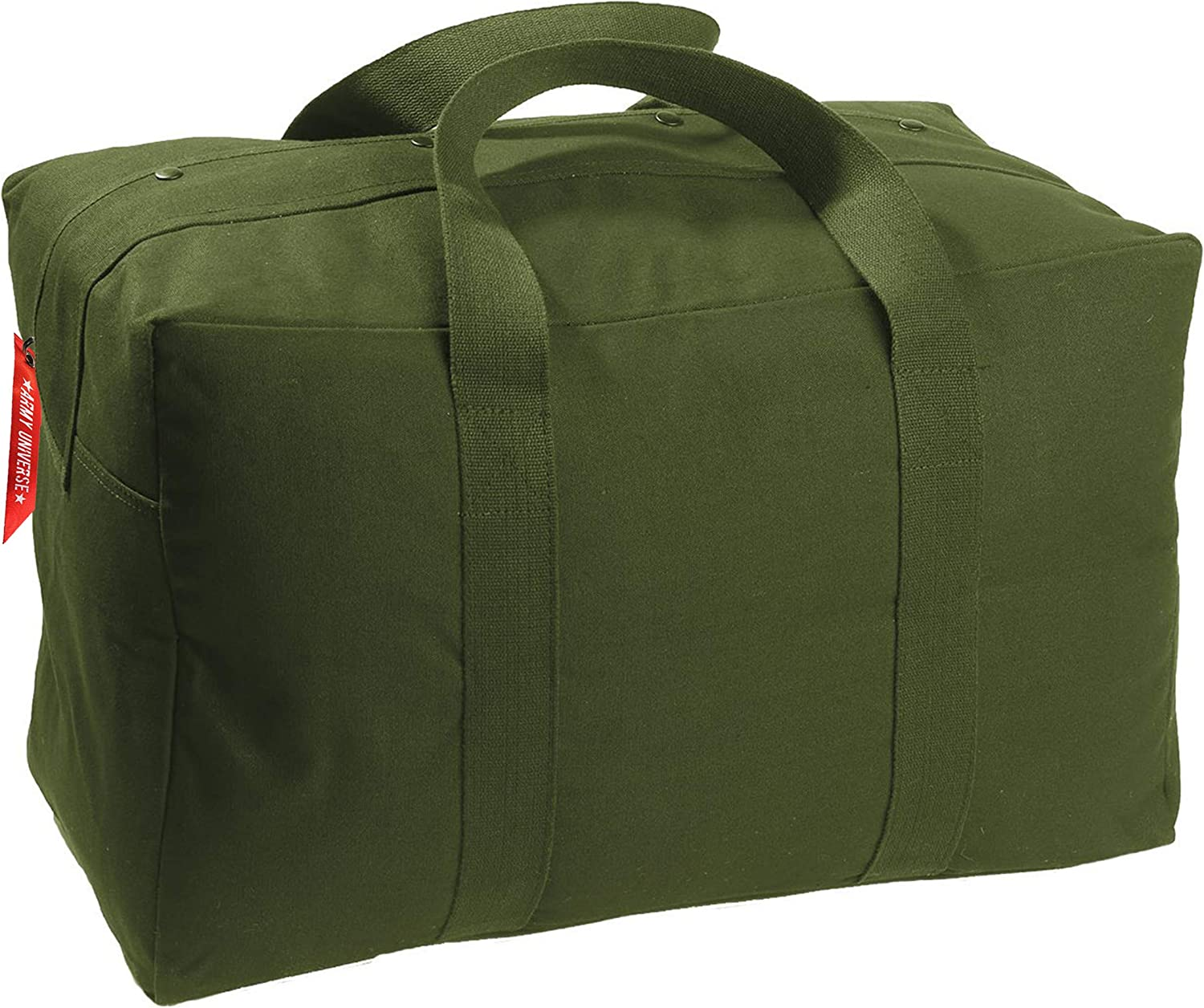 Tactical Parachute Cargo Bag Heavy Duty Canvas Carry Duffle | Simple Bag with One Huge Pocket | Small & Large Sizes Available | Great for Campers, Weekend Getaway, Travel, Gym and More!