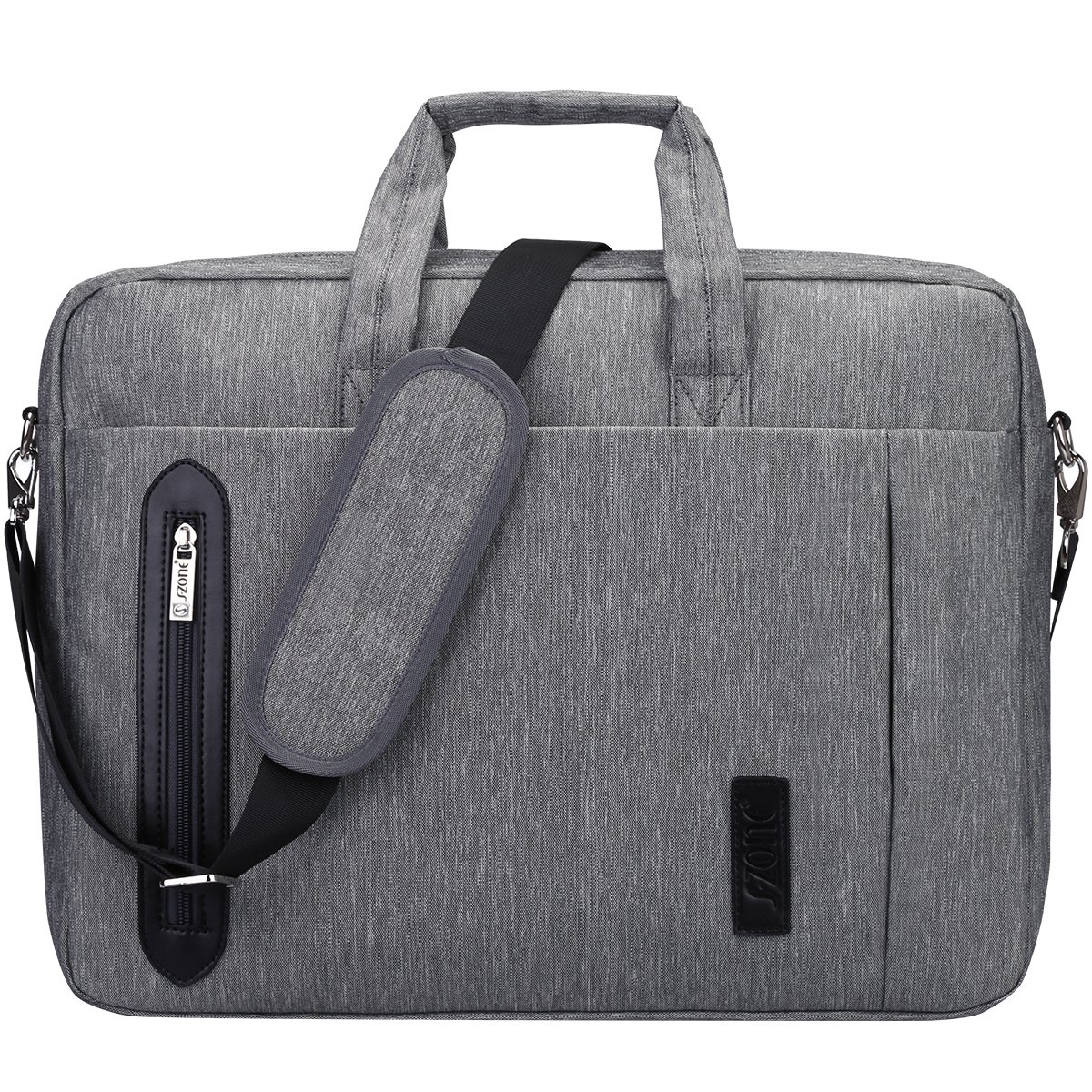 S ZONE Oversize Oxford Nylon 17.3 inch Laptop Case Messenger Shoulder Laptop Bag Briefcase