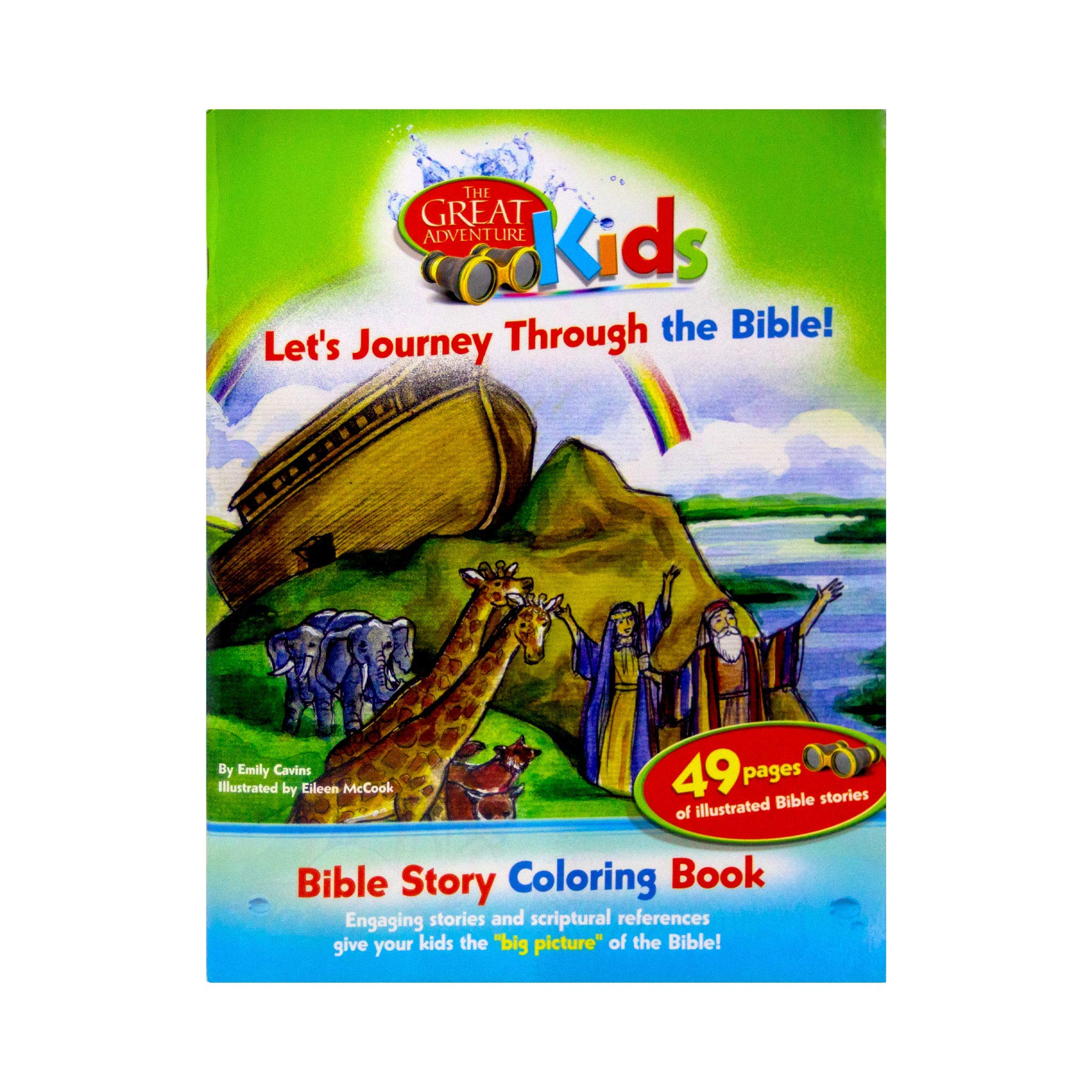The Great Adventure Kids Bible Story Coloring Book: Let\'s ...