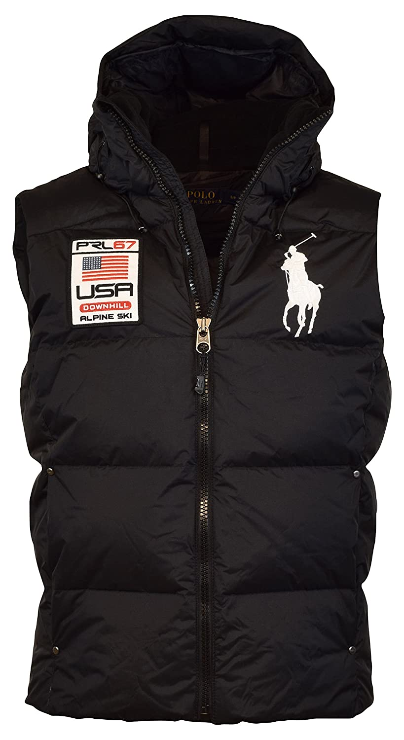 Polo Ralph Lauren Big Pony Alpine Ski Patch Puffer Vest at Amazon Men\u0027s  Clothing store: