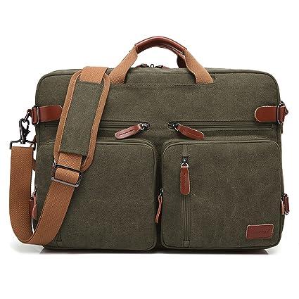 ec155bab72d4 DTBG 17.3 inches Convertible Shoulder Bag Messenger Bag Backpack  Multipurpose Laptop Bag Water-Resistant Business