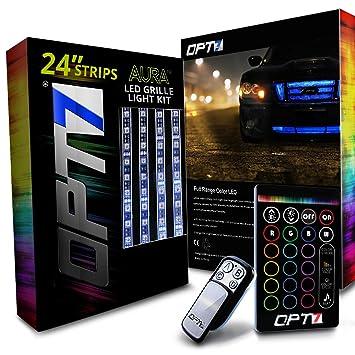 OPT7 Aura 4pc PRO LED Lighting Kit for Grille   24u0026quot; Multi-Color Strips  sc 1 st  Amazon.com & Amazon.com: OPT7 Aura 4pc PRO LED Lighting Kit for Grille   24 ... azcodes.com