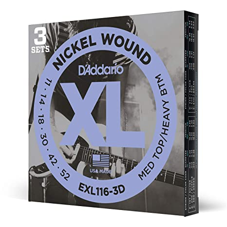 Cuerdas para guitarra eléctrica Nickel Wound de DAddario, de ...