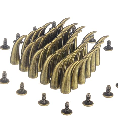 rubyca 21 mm Gato garra tacos y pinchos de metal tornillo Back para leather-craft