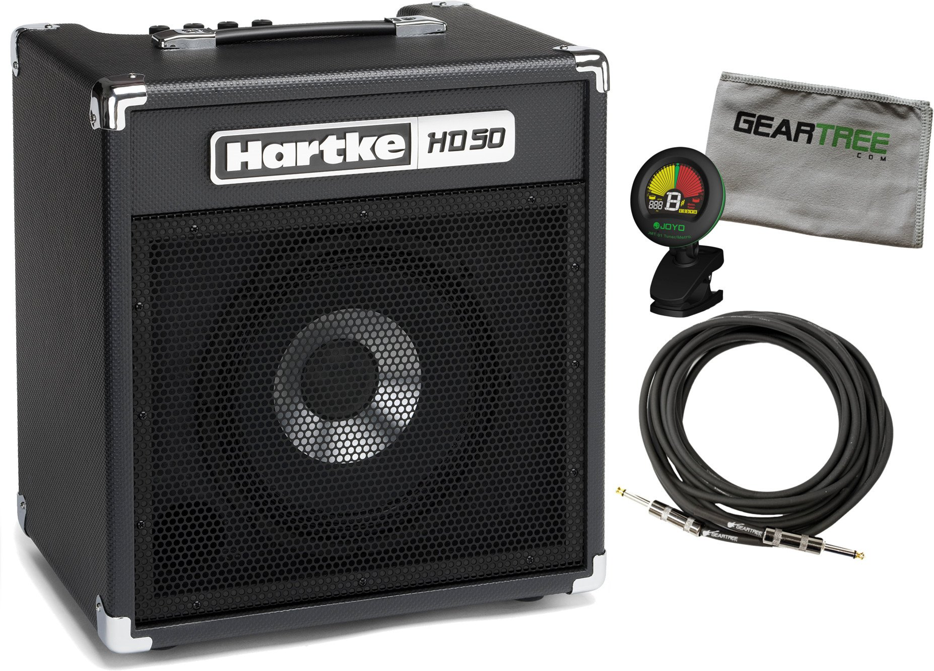 Hartke HD50 50 Watt 10'' Bass Combo w/ Geartree Cloth, Cable, and Tuner