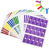 Coceca 24 Sheets (720 Labels), 6 assorted colors Self-adhesive Cable Label - Waterproof | Tear Resistant - with Free Print Tool - for Laser Printer