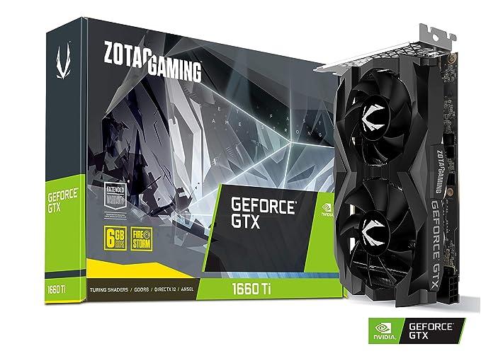Zotac ZT-T16610F-10L - Tarjeta gráfica (GeForce GTX 1660 Ti, 6 GB, GDDR6, 192 bit, 7680 x 4320 Pixeles, PCI Express x16 3.0)