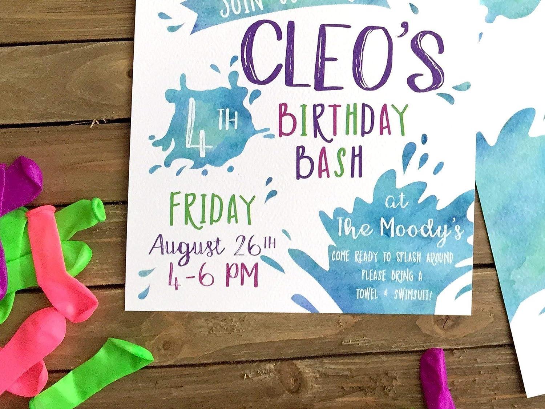 Amazon Com Splish Splash Birthday Bash Birthday Party