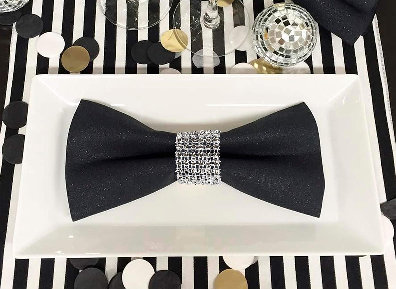 10-100Pcs Spandex Chair Cover Sashes Tie Bow Yarn Wedding Banquet Decor w//Flower