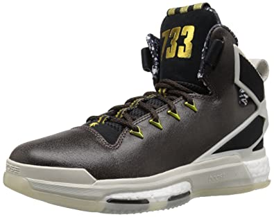 outlet store df12c fb5d6 adidas Performance Mens D Rose 6 Boost BHM Basketball,BlackGrey,9 M
