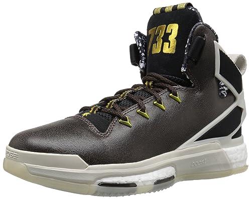 9c9f45b5ccc6 adidas Performance Men s D Rose 6 Boost BHM Basketball,Black Grey,9 M