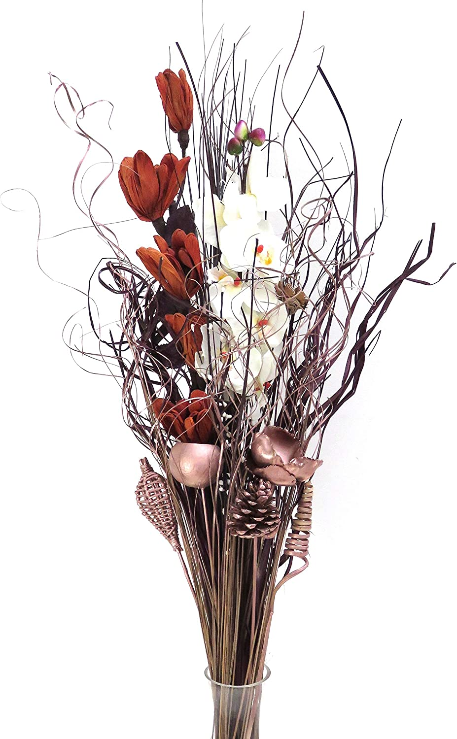 Dried Artificial Flower Bouquets 85cm Tall Ready For A Vase Rose Gold Copper Amazon Co Uk Kitchen Home