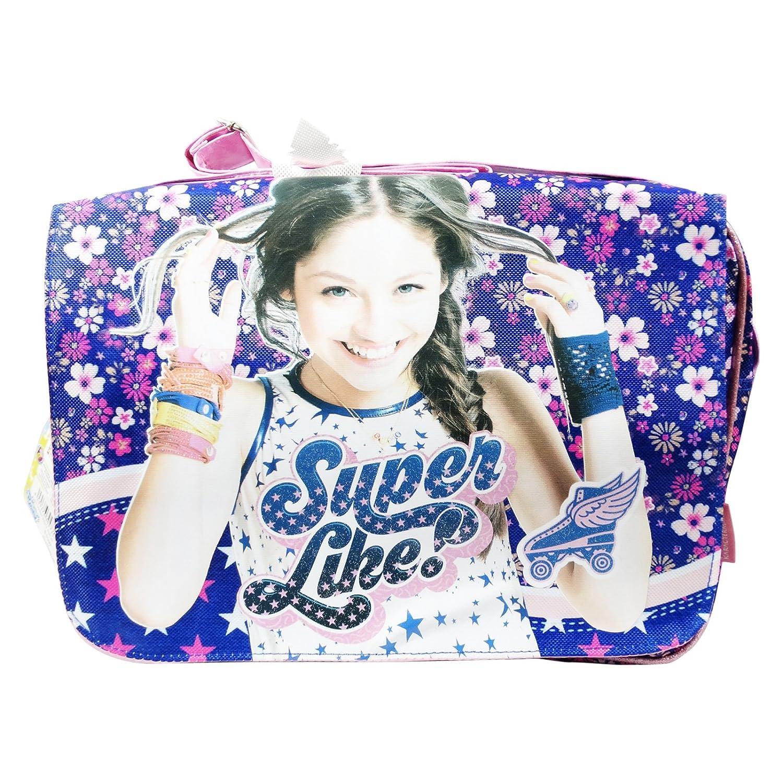 Ragazza con Patta per Scuola Porta Tablet Disney Soy Luna Superlike Borsa a Spalla a Tracolla per Bambina