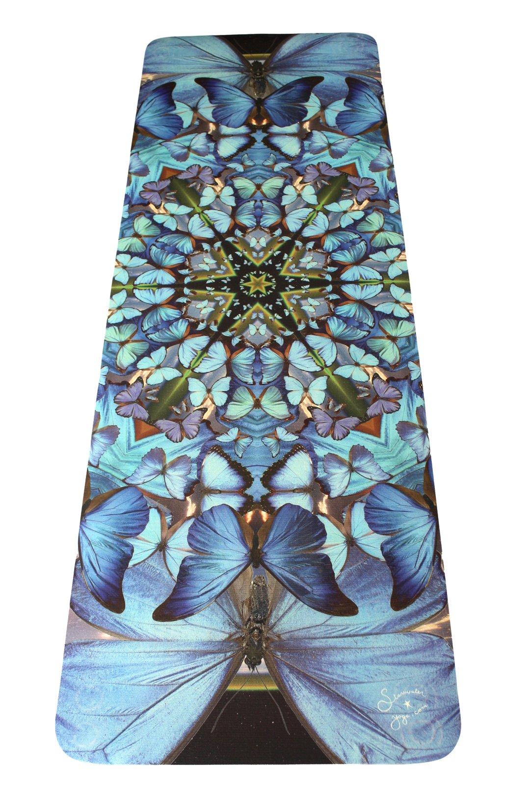 DESTINY // Blue Butterfly Mandala Yoga Mat
