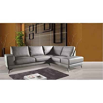 amazon com nsiusa zoe sectional top grain leather sofa facing right rh amazon com