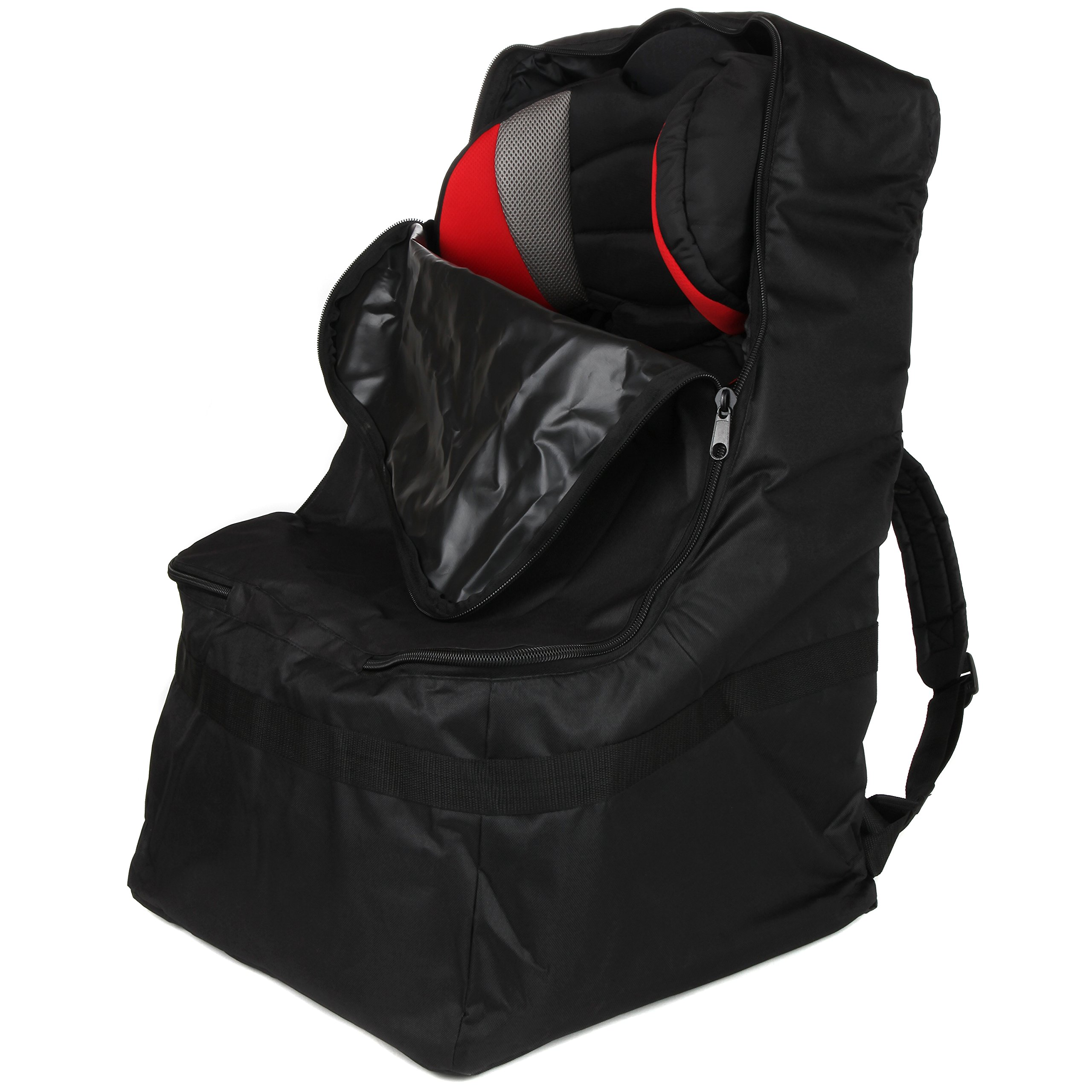 Full Size Car Seat Travel Bag - Black Carseat Carrier and Car Seat Bag for Airplane