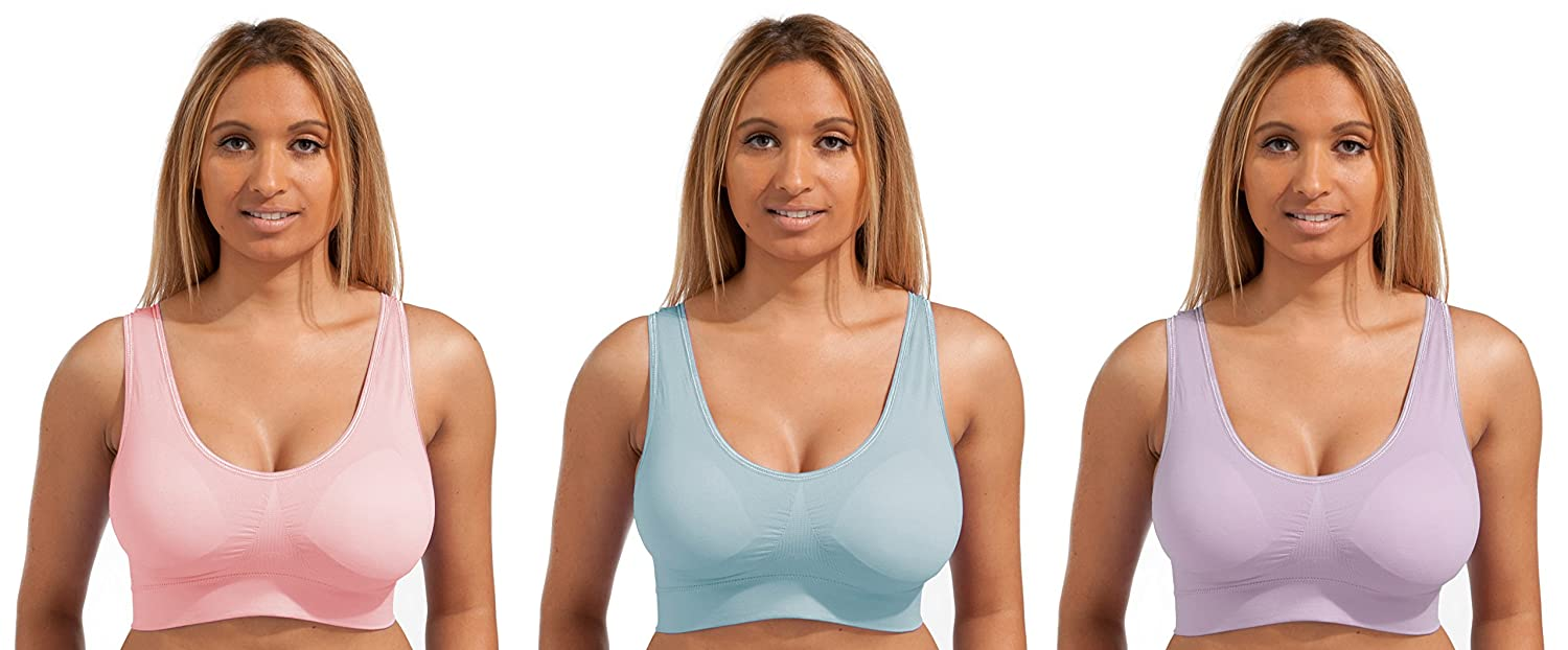 Marielle **Sale** 3 - Pack New Colours/Styles! Padded Seamless Comfort Stretch Shapewear Bra - Ultimate Comfort Guaranteed Best On The Market