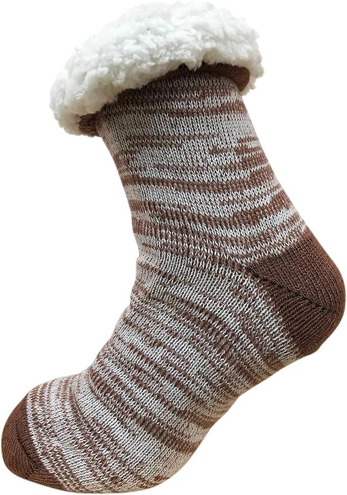 Ultimate Sherpa Fluffy 4.7 Tog Socks Kids Girls Cosy Fair Isle Thermal Socks