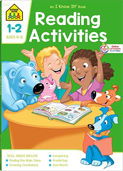 School Zone - Reading Activities Workbook - 64 Pages, Ages 6 To 8, 1st Grade,  2nd Grade, Comprehension, Comparing, Contrasting, Evaluating, And More  (School Zone I Know It!® Workbook Series): School Zone,