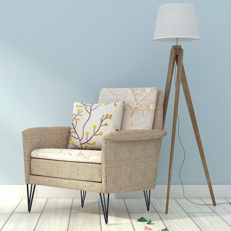 "WOOZOOY 5 Inch Hairpin Legs 1//2/"" Dia 3-Rods Heavy Duty Hairpin Feet Set of 4 Metal DIY Furniture Legs Sofa Cabinet Feet Coffee Tea Bar Stool Chair Leg"