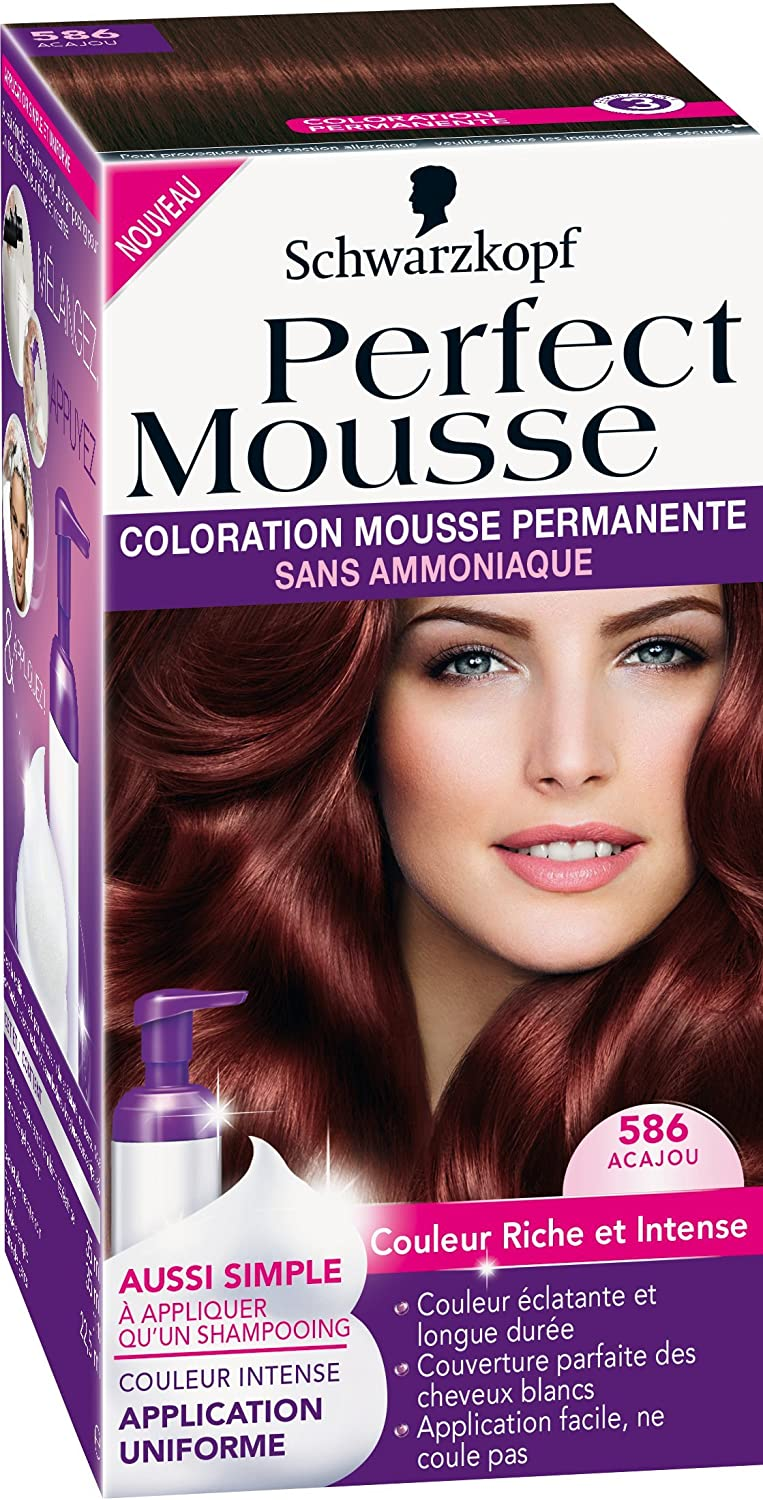 Coloration permanente sur cheveux colores