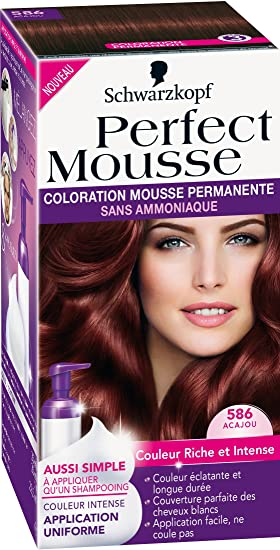 schwarzkopf perfect mousse coloration permanente acajou 586 - Coloration Semi Permanente Schwarzkopf