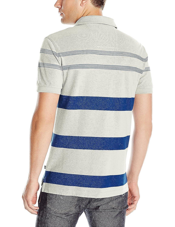 Nautica Mens Classic Fit Stripe Polo Shirt